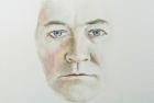1 'Self portrait study' water colour 40 x 30 cm 2014