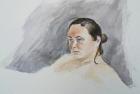10 'Mary, Heatherley's life study' watercolour 30 x 40 cm 2016