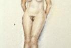 12 'Standing nude' pastel 40 x 30 cm 2003