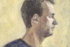 22 'Profile self portrait' oil on canvas board 22 x 19 cm 1989
