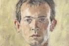 23 'Self portrait' oil on canvas board 13 x 15 cm 1988