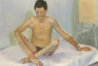 27 'Life study' Slade School' oil on board 30 x 40 cm 1978