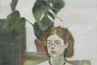 28 'Debbie, Slade School' oil on canvas 20 x 20 cm 1978