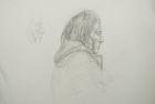 29 'Portrait exercise' Slade School' pencil 30 x 50 cm 1978