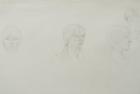 30 'Portrait exercise, Slade School' pencil 30 x 60 cm 1978
