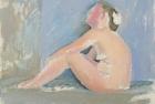 9 'Emma tondo, study' oil on canvas board 18 x 20 cm 2016