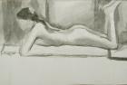 9 'Wendy, Slade life study' ink wash 20 x 35 cm 1978