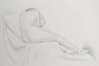 DF54 'Life study' pencil drawing 35 x 50 cm 2004