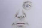Self Portrait study colour pencil