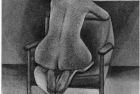 11 E46 'Christine kneeling' etching and aquatint, plate 22.5 x 18.5 cm 1995