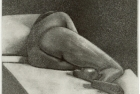 12 E39 'Sleeping Nude II' etching and aquatint, plate 14 x 14 cm 1995