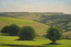 OL143 -sussex-downs-near-willingdon-oil-on-canvas-45-x-61-cm-2006