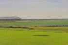 1 OL207 'Firle Beacon from Beachy Head' oil on canvas 25 x 60 cm 2017