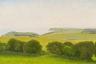13 OL184 'Belle Tout and Birling Gap' oil on canvas 30 x 60 cm 2012