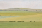 18 OL160 'Sussex Downs study' oil on canvas 20 x 40 cm 2010 (Private collection)