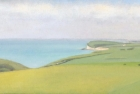 19 OL158 'Birling Gap and Seaford Head' oil on canvas 15 x 30 cm 2010 (Private collection)