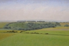 27 OL146 'South Downs near East Dean' oil on canvas 25 x 50 cm (Private collection)