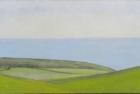 4 OL201 'Birling Gap from Warren Hill study' oil on canvas 12 x 24 cm 2015