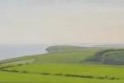 7 OL196 'Seaford from Beachy Head' oil on canvas 20 x 40 cm 2015