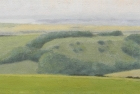 8 OL195 'Went Hill study' oil on canvas 12.5 x 21 cm 2015
