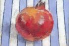 OSL120 'Pomegranate' oil on canvas board 15.6 x 16 cm 1998