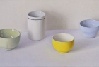 OSL222 'Green, white, yellow and blue with black' oil on canvas 22.5 x 45 cm 2015