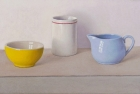 OSL233 'yellow, white and blue with red' 22 x 40 cm 2016